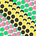 Overlayed Dots Print by Louisa Knight