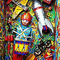Painted Box Full Of Old Toys by Garry Gay