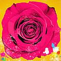 Painting Of Single Rose by Setsiri Silapasuwanchai