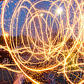 Painting with Sparklers Print by Gordon Dean II