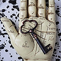 Palm Reading Hand And Key by Garry Gay