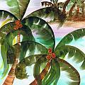Palm Trees Breeze Print by Cheryl Fox