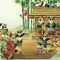 Pandabears Christmas 03 Print by Kestutis Kasparavicius
