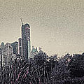 Panorama Of Central Park - Old Fashioned Sepia by Alex AG