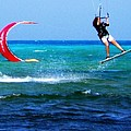 Para Surfing In Cozumel Mexico by Danielle  Parent