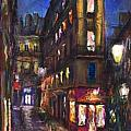 Paris Old street Print by Yuriy  Shevchuk