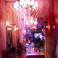 Paris Posh Pink Red Hotel Interior Chandelier by Kathy Fornal