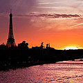 Paris Sunset by Mircea Costina Photography