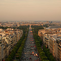 Paris View At Sunset by CNovo