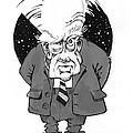 Patrick Moore, British Astronomer by Gary Brown