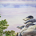 Peaceful Place Morning At The Lake by Irina Sztukowski