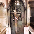 Pere La Chaise Cemetery Ornate Mausoleum by Kathy Fornal