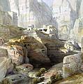 Petra March 10th 1839 by Munir Alawi