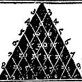 Petrus Apianus's Pascal's Triangle, 1527 by Dr Jeremy Burgess
