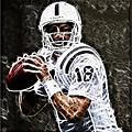 Peyton Manning 18 by Paul Ward
