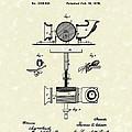 Phonograph 1878 Patent Art  by Prior Art Design