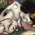 Pigs by Franz Marc