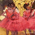 Pink Dancers Before Ballet by Pg Reproductions