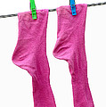 Pink Socks Poster by Frank Tschakert