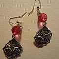 Pink Spider Earrings by Jenna Green