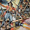 Pirates Preparing To Board A Victim Vessel  by American School