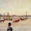 Place De La Concorde - Paris  by Georges Fraipont