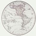 Planispheric Map Of The Western Hemisphere by Fototeca Storica Nazionale