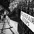 Playfair Steps Down Into Princes Street Gardens Edinburgh Scotland Uk United Kingdom by Joe Fox