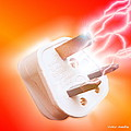 Plug With Electric Current by Victor Habbick Visions