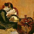 Polishing Pans  by Marianne Stokes