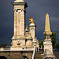 Pont Alexander IIi In Paris Before Storm by Elena Elisseeva