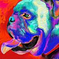 Pop Art English Bulldog painting prints Print by Svetlana Novikova