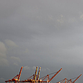 Port of Seattle, Elliot Bay, Seattle, Washington Print by Paul Edmondson