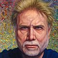 Portrait of a Serious Artist Print by James W Johnson
