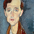 Portrait Of Franz Hellens by Modigliani