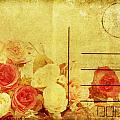 Postcard With Floral Pattern by Setsiri Silapasuwanchai