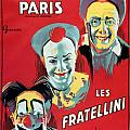 Poster advertising the Fratellini Clowns Print by French School