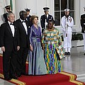 President And Laura Bush Welcome Ghanas by Everett