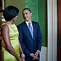 President And Michelle Obama Wait by Everett