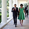 President And Michelle Obama Walk by Everett