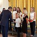 President Barack Obama Greets The 2009 by Everett