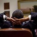 President Barack Obama Leans Back by Everett