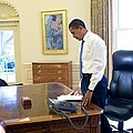 President Barack Obama On His First by Everett