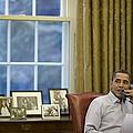 President Barack Obama Talks by Everett
