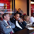 President Barack Obama Watches The 2009 by Everett