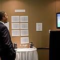 President Barack Obama Watches The U.s by Everett