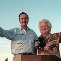 President George Bush And Barbara Bush by Everett