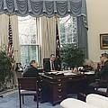 President George Bush Meets With Keys by Everett