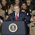 President George W. Bush Speaks by Stocktrek Images