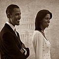 President Obama And First Lady S by David Dehner